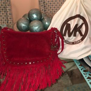 Authentic Suede Fringe Micheal Kors Purse